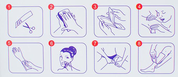 Các bước sử dụng miếng dán wax lông